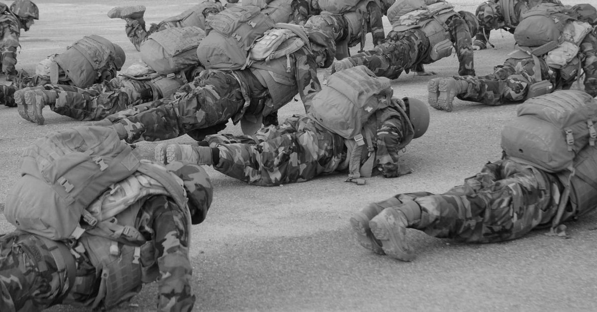 Soldiers Doing Push-Ups